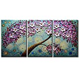 V-inspire Abstract Art, 20x30Inchx3 Paintings Oil Hand Painting 3D Hand-Painted On Canvas Abstract Artwork Art 3 Panels Wood Inside Framed Hanging Wall Decoration Abstract Painting