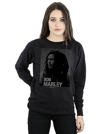Bob Marley Mujer Roots Rock Reggae Camisa De Entrenamiento: Amazon.es: Ropa y accesorios