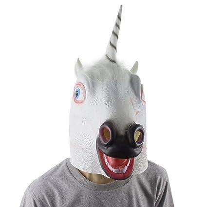 Aminal máscara ❤ Luca ❤ látex ovejas feliz perro unicornio máscara disfraz de Halloween Prop