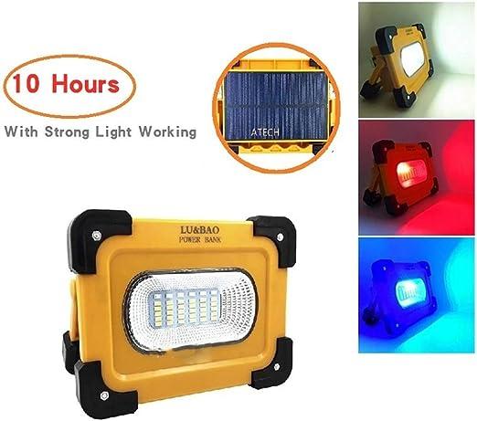 Luz de trabajo LED 30W, luz de construcción recargable USB con ...