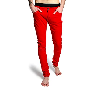 f44b460f Criminal Damage Skinny Fit Jeans (Red)