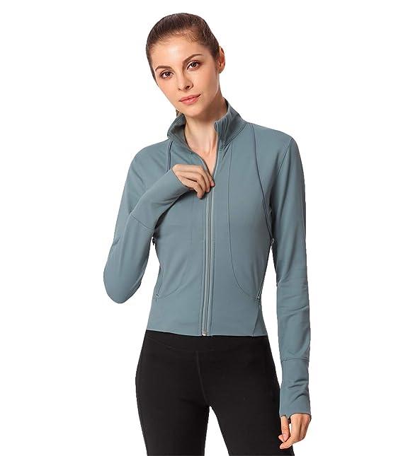 ... Moda Cómodo Blusas Casual Fitness Cortavientos Outerwear Mujer Cuello Mao Manga Larga Abrigos Chica Invierno Deportivas: Amazon.es: Ropa y accesorios