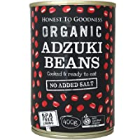 Honest to Goodness Organic Adzuki Beans - BPA Free (Cooked), 1 x 400 g