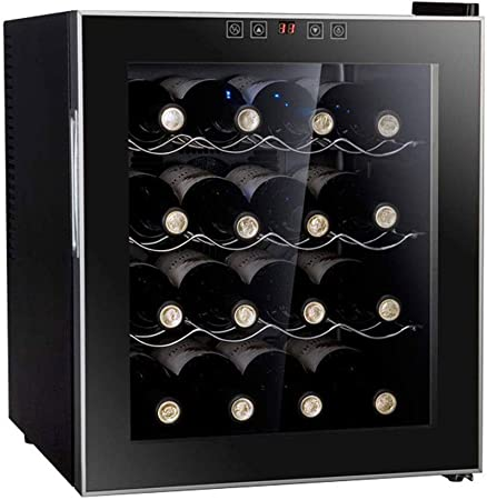 DHINGM Neveras de Vino for Las Botellas de Vino, Vino Refrigerador empotrable, Vino Frigorífico bajo encimera, frigorífico Independiente con Pantalla LCD Digital