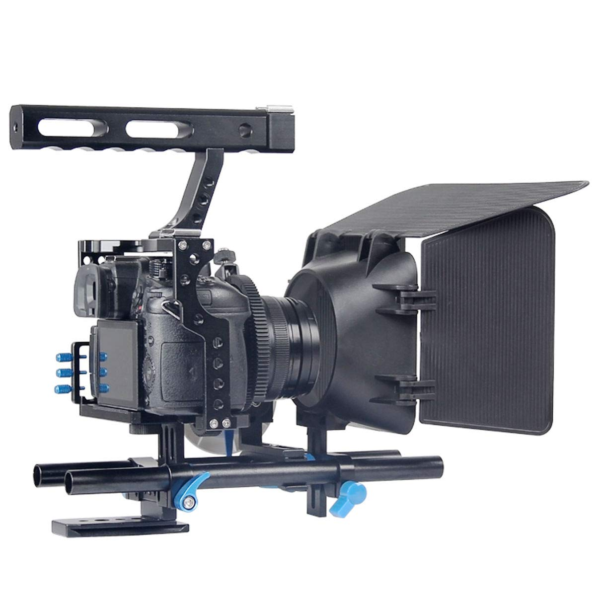 FidgetFidget Stabilizers for DSLR Camera Cage + Follow Focus + Matte Box Kit for Sony A7S A7 A7R A7RII A7SII by FidgetFidget (Image #3)