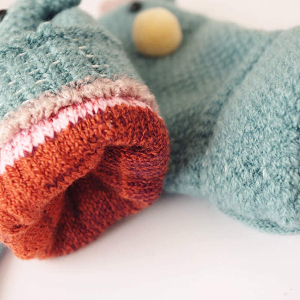 FORESTIME/_baby clothes girl Baby Boys Girls Christmas Gloves/Deer Cute Knitted Winter Warm Fingerless Mittens