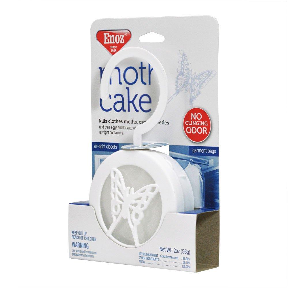 Enoz Moth Cake Pack of 6 Kills Clothes Moths and Eggs and Larvae Carpet Beetles