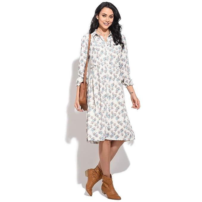 Orfeo Vestido Wish Crudo/Turquesa Mujer Colección Primavera/Verano