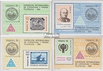 Prophila Collection Argentina Michel.-No..: Bloque 22-Bloque 25 (Completa.edición.) 1979 filatelia (Sellos para los coleccionistas) Sello en Sello: Amazon.es: Juguetes y juegos