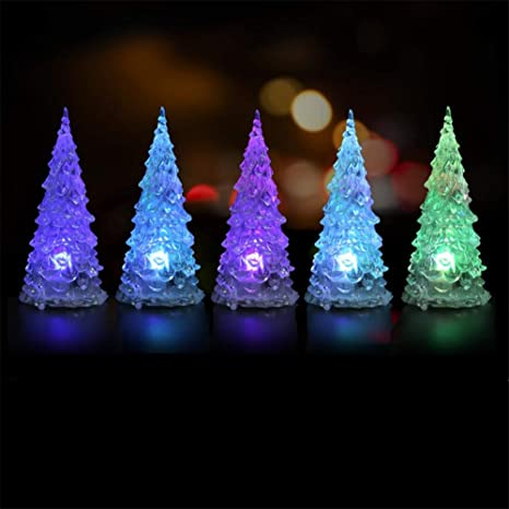 Acrylic Christmas Tree Led Colorful Lights Color Changing Led Light