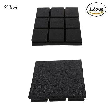 """sylive 12 unidades paneles de espuma acústica 2 """"x 12"""" X 12 """""""