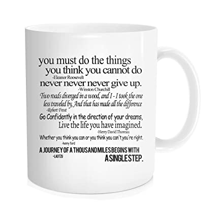b0a0310fb4f Hasdon-Hill Inspirational Quotes Gifts Mug, Funny Coffee Mugs with  Inspirational Sayings, Anniversary