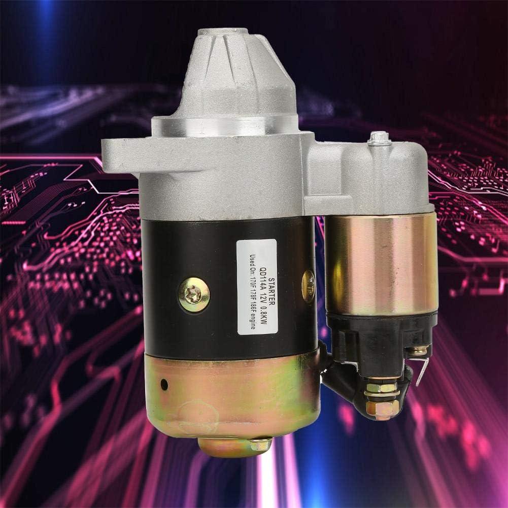 Inverse Rotation Electric Starter Motor for Water Pump Diesel Engine and Gasoline Engine QD114A 12V 0.8KW Engine Starter Motor