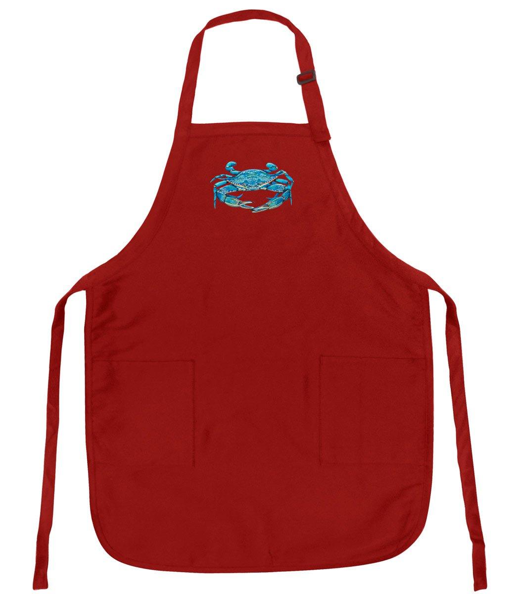 ブルーCrabエプロンW / Pockets & AdjネックBlue Crabs   B01N7EV6IO