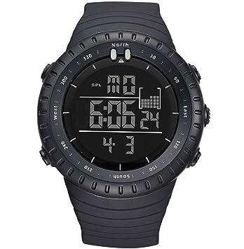 Digital deportivo Relojes para hombres, reloj despertador con cronógrafo LED retroiluminado para Chico