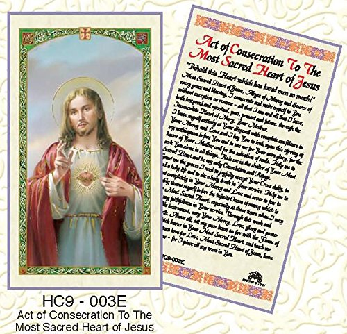 (Act of Consecration to the Most Sacred Heart of Jesus Laminated Prayer Cards - Pack of 25 - HC9-003E)