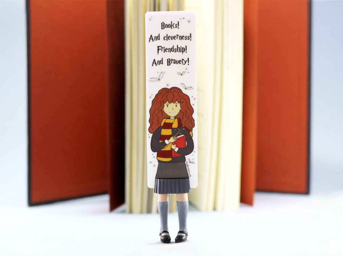 Hermione bookmark. MyBookmark. Ideal Gift For Bookworm and Book Lover. Truly Handmade and Crafted With Love