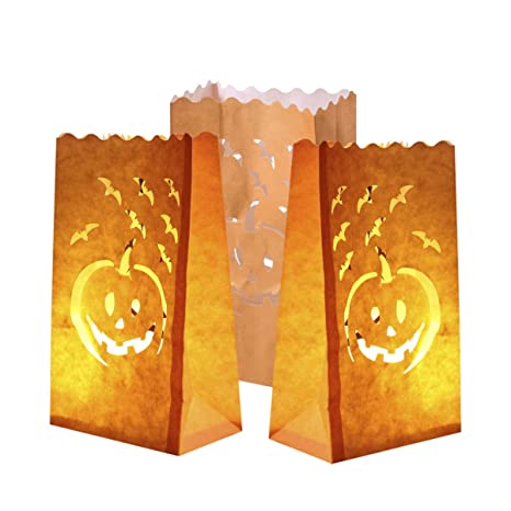 Amazon.com: Holibanna - Bolsas luminosas para Halloween, 12 ...