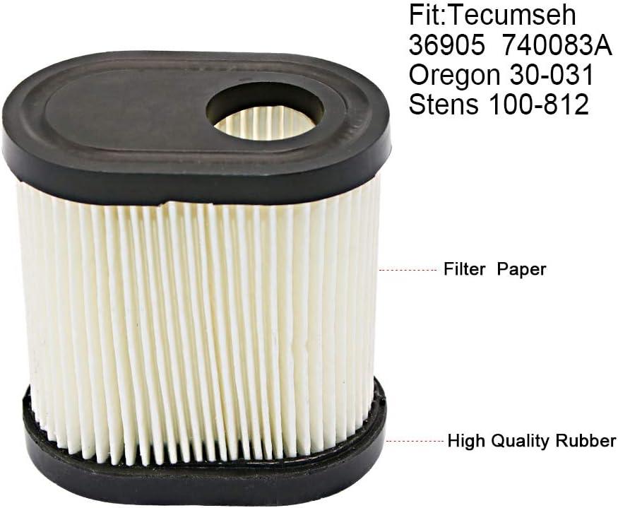 Lev 115 Filtro de aire compatible con: Tecumseh Lev 100 LV 195 EA ovrm 65, Lev 120