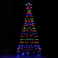 LED Christmas Tree 7FT Solar Powered Standing Lighted Decor 2.1M Waterproof Jingle Jollys Outdoor Indoor Festive Home…