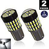 LUYED 2 x 900Lumens Super Bright 1156 3014 78-EX Chipsets 1156 1141 1003 7506 LED Bulbs Used For Back Up Reverse Lights,Brake Lights,Tail Lights,Rv lights,Xenon White