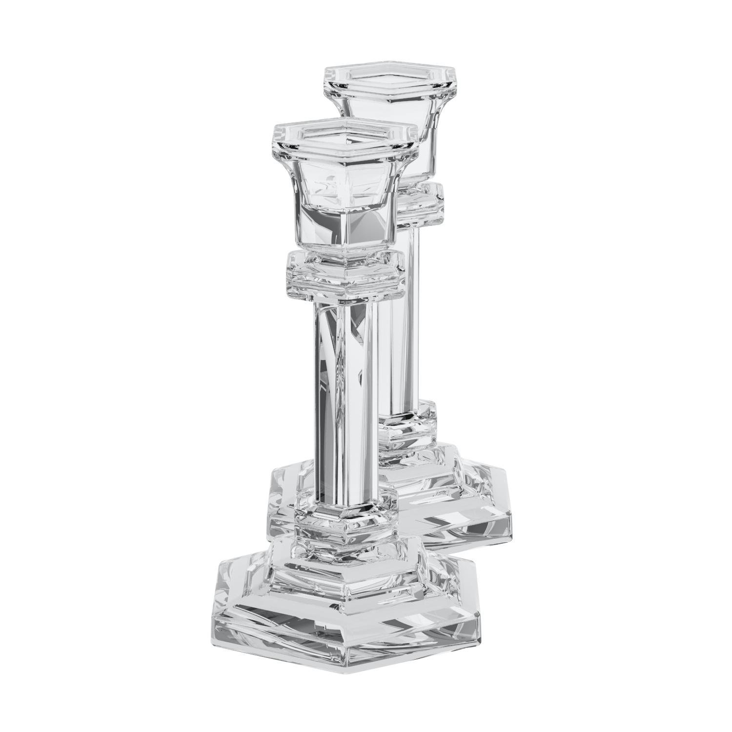 Godinger Silver 14861 Classical Crystal Candlestick Pair