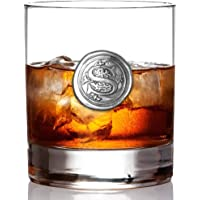 English Pewter Company 11oz Whisky Glass Tumbler with Monogram Initial - Personalised Gift with Your Choice of Initial