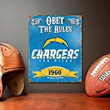 Party Animal San Diego Chargers Embossed Metal Vintage Sign