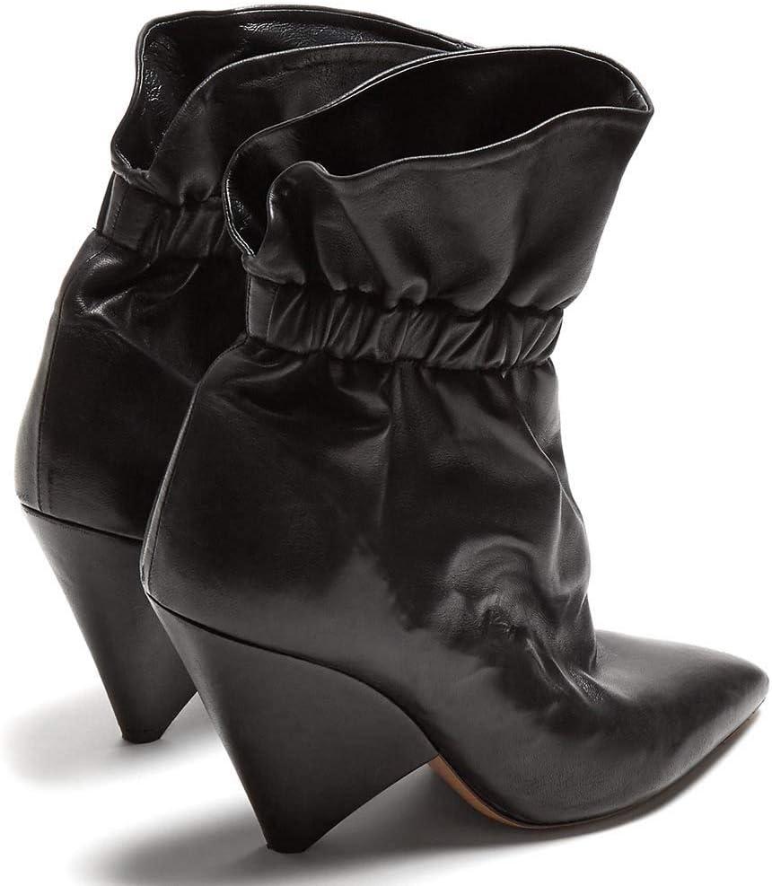 MKXF Zapatos Corta Las Botas del Tobillo Moda de Las Mujeres Negro KWYbS