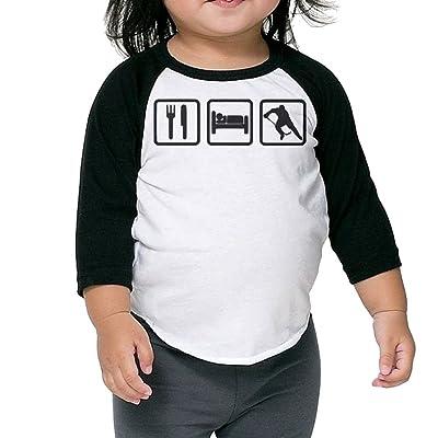 SH-rong EAT SLEEP HOCKEY Kids Essential Tshirt