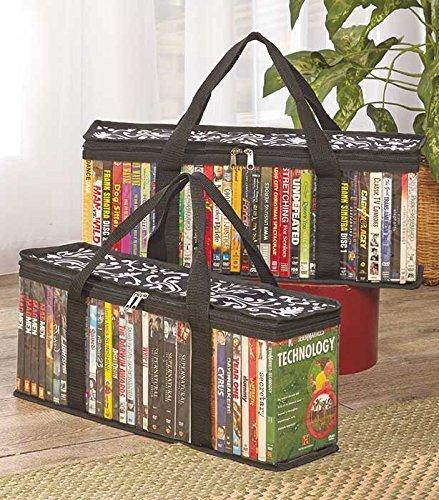 DVD Storage Organizer Damask Pattern - Classic Set of 2 Stor
