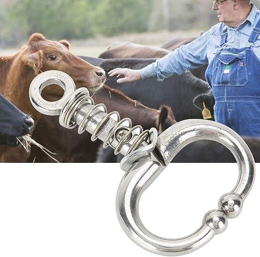 Borlai Alicates de Nariz de Vaca Tipo Toro Anillo de Nariz de Ganado Accesorios para Equipos de Animales