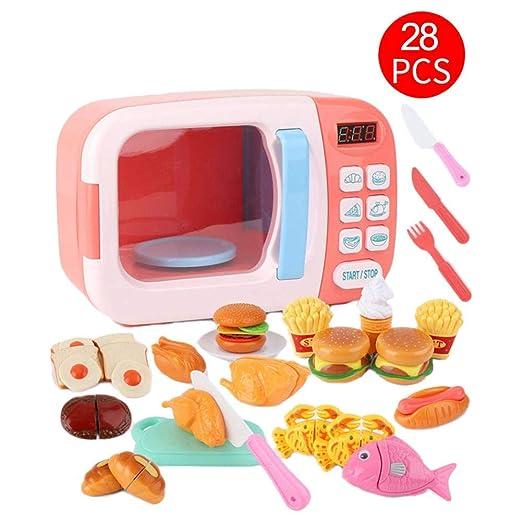 Microondas de Juguete con luz y Sonido 28PCS con alimentos falsos ...