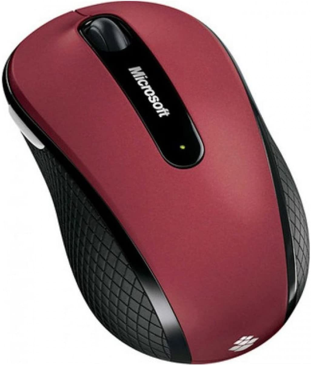 Microsoft D5D-00038 Wireless Mobile Mouse 4000; Ruby Pink Red Top with Black Sides