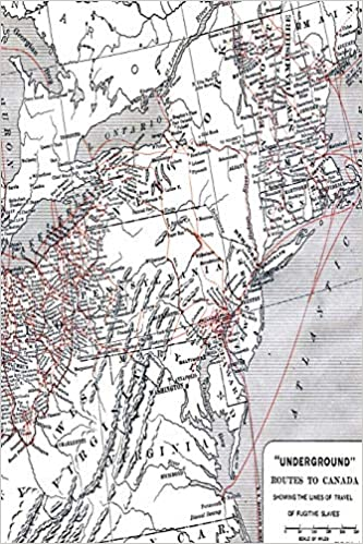 Routes Of The Underground Railroad: Map Of Fugitive Slave ... on underground railroad map, island of the blue dolphins map, bridge to terabithia map,