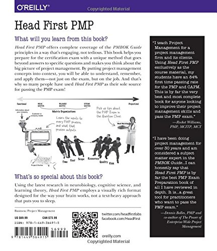 Head First PMP: A Learner's Companion to Passing the Project Management Professional Exam by Jennifer Greene
