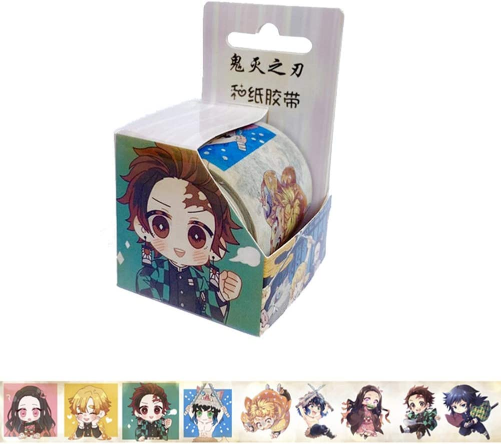Bungo Stray Dogs SosoJustgo2 Anime Decorative Washi Tape Adhesive Paper Tape Stickers Label Masking Decorative Tapes DIY Scrapbooking Sticker Office School Supplies Hot Gift for Fans