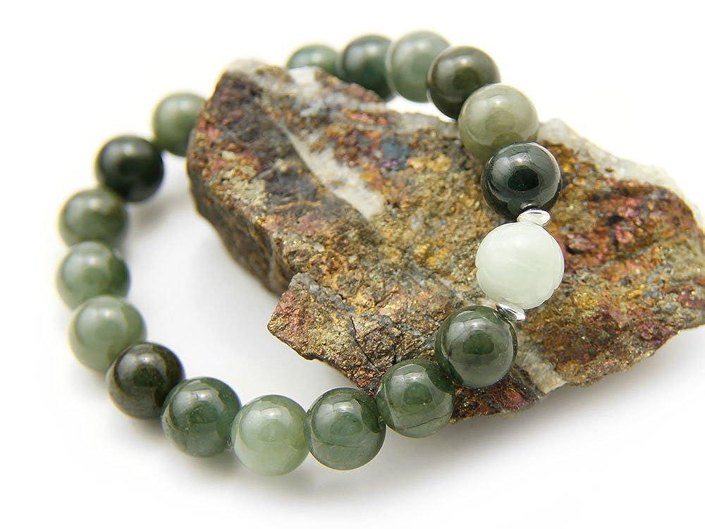 Agathe creation - Bracelet en Jade véritable. Perles de jade naturelles -  Porte bonheur - taille réglable - Fait main  Amazon.fr  Bijoux e3efef76505b