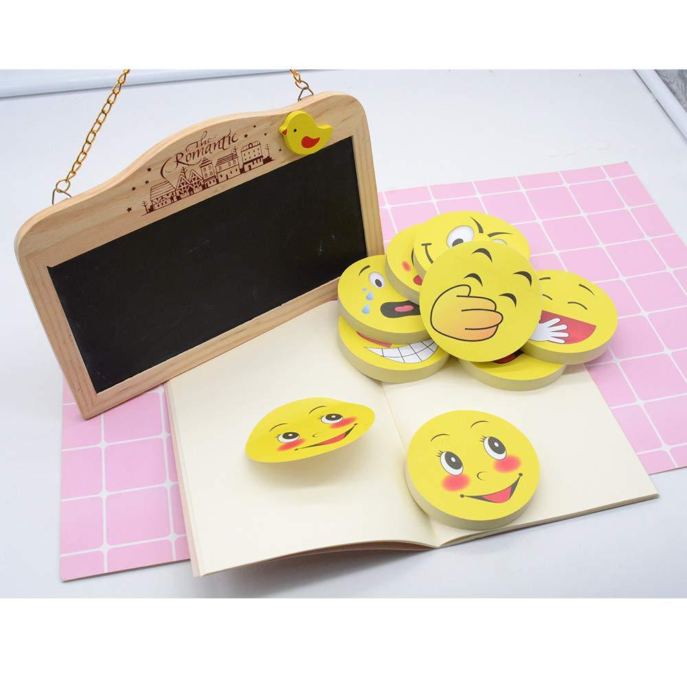 Foglietti adesivi a forma di emoji autoadesivi rimovibili con faccina sorridente 10 blocchetti 8 Pack
