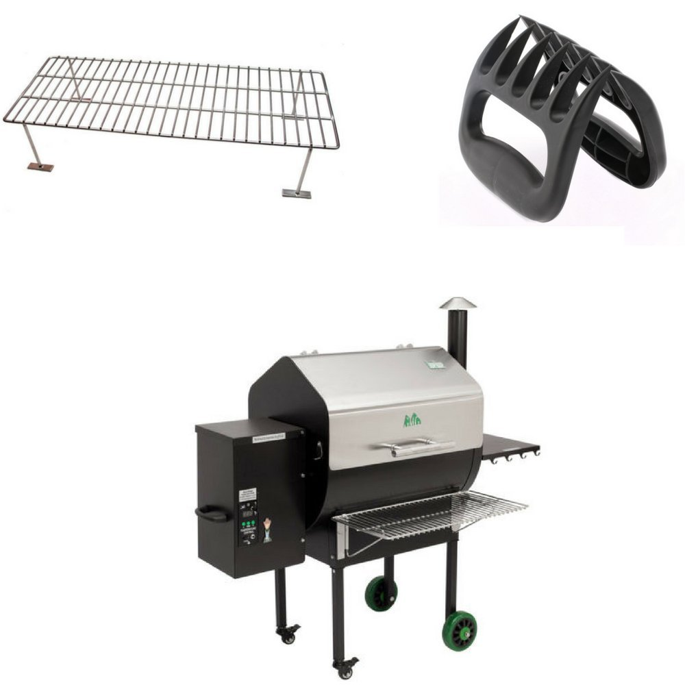 Green Mountain Grill Daniel Boone Front Shelf, Upper Rack & BBQ Shredding Claws Combo by Green Mountain Grills