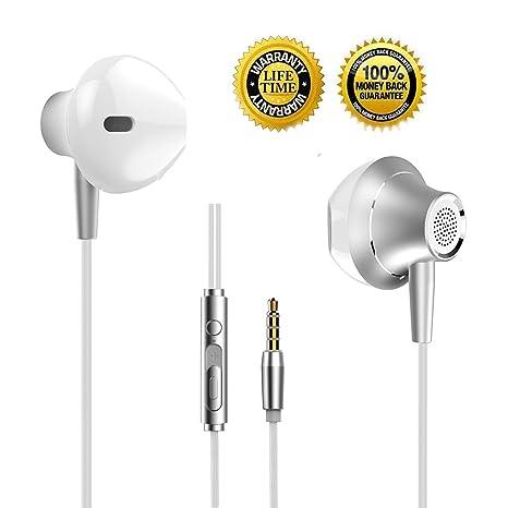 Auricolari Stereo Cuffie Auricolari in Ear Bass Wired Auricolari con Micro  e Controllo Remoto Compatibile per 3a053040d44d