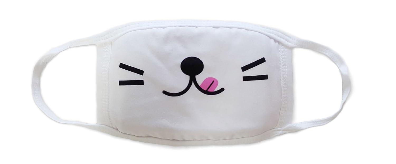 Sassy Pippi Unisex Süße Mundschutz Maske Emojimaske Kälteschutz Gesichtsmaske (Emoji D)