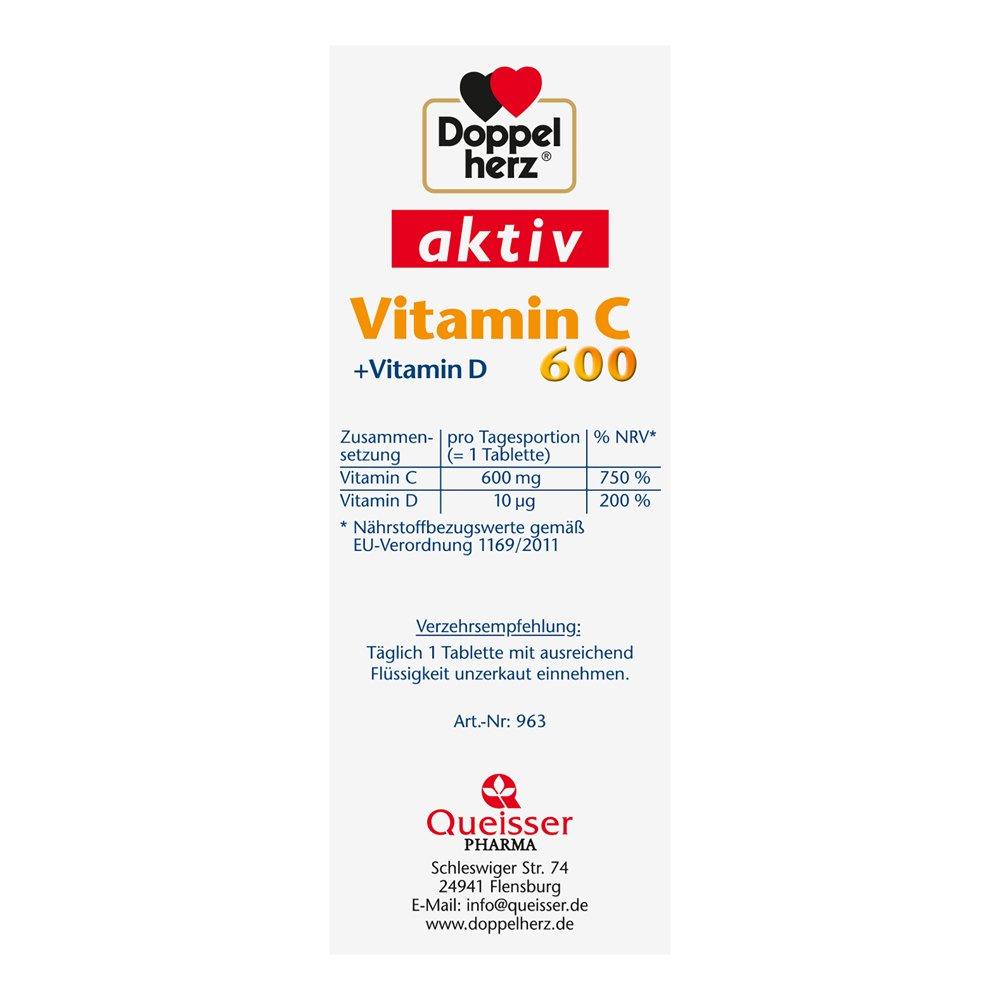 Doppelherz Vitamin C 600 Tabletten Ergänzungsmittel Mit Vitamin C