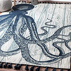 61%2Bb49567%2BL._SS300_ 50+ Octopus Rugs and Octopus Area Rugs