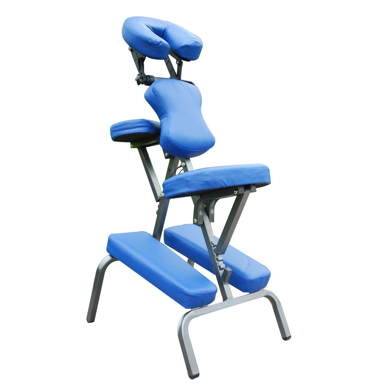HOMCOM Portable Massage Chair 3-Inch Thick Foam Spa Health with Carrying Bag, Black Aosom Canada 5550-3161BK