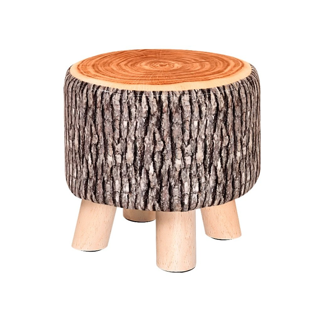 Solid wood shoe bench/Fabric fruit stool/Multifunctional footstool/Living room sofa stool/Bed stool Solid wood stools/Home coffee table stool/Creative shoe bench/Stool/2928cm (Color : A)