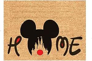 Mickey Mouse Funny Welcome Home Door Mat Easy Clean Doormat Gift