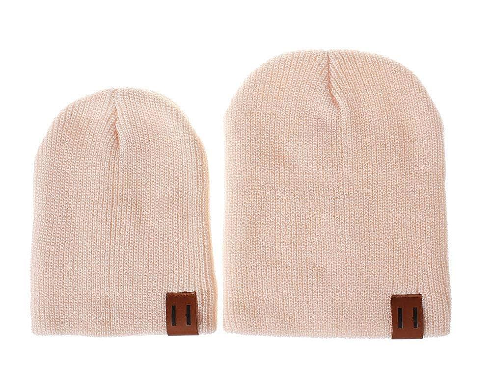 Happy childhood 2PCS Parent-Child Hat Warmer Parent/& Baby Daughter//Son Winter Warm Knit Hat Family Beanie Knit Cap