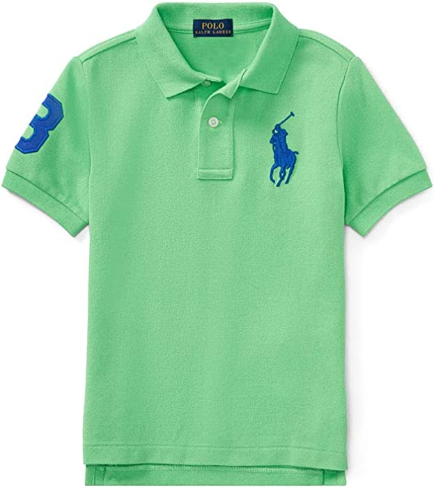 e34ccc89 Polo Ralph Lauren Baby Boy's Big Pony Mesh Polo Shirts, 18 Months, New Lime