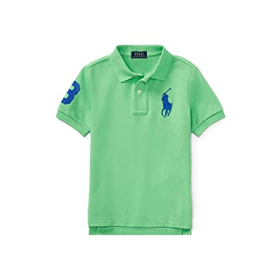 60003eea Image Unavailable. Image not available for. Color: Polo Ralph Lauren Baby  Boy's Big Pony Mesh Polo Shirts ...